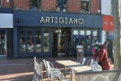 Artigiano, on Reading's aptly-named Broad Street, complete with outside seating.