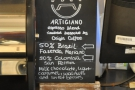 ... and you'll find details of the seasonal house espresso blend...