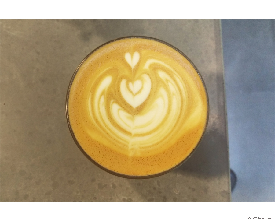 ... and more excellent latte-art. Store Street does have its own cups, by the way...