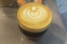 ... but I was taking my coffee away each day. Here's Wednesday's flat white...