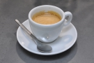 And here's my espresso, which was excellent. Really fruity and well-balanced.