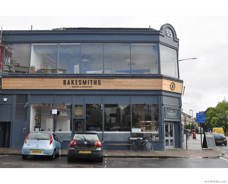 Bakesmiths, on Bristol's Whiteladies Road, seen here looking across Aberdeen Road.