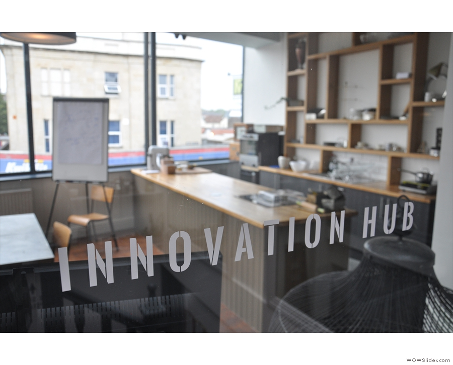 Ah, this must be the innovation hub that the sign half-way up the stairs was on about.