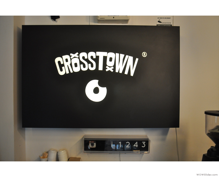 This sign at the back is a counter for the Crosstown Instagram account. Yes, I did test it!
