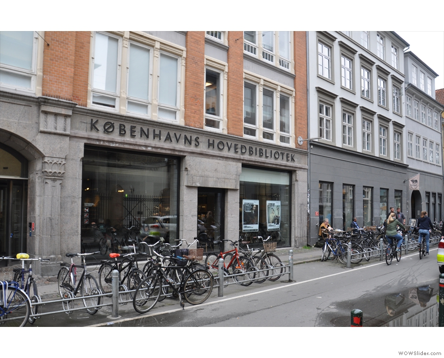 On Copenhagen's Krystalgade, you'll find this interesting building...