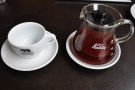 I went for the V60 of the Hunkute from Ethiopia, which came in a carafe, cup on the side...