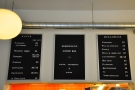 The menus, on the wall above the ktichen, are delightfully concise...