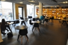 However, if you go into the library, there's this large seating area to the left...
