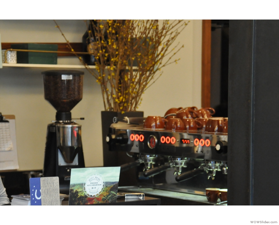 Both espresso machines are close to the till. This is the one to the right (by the lobby door)...