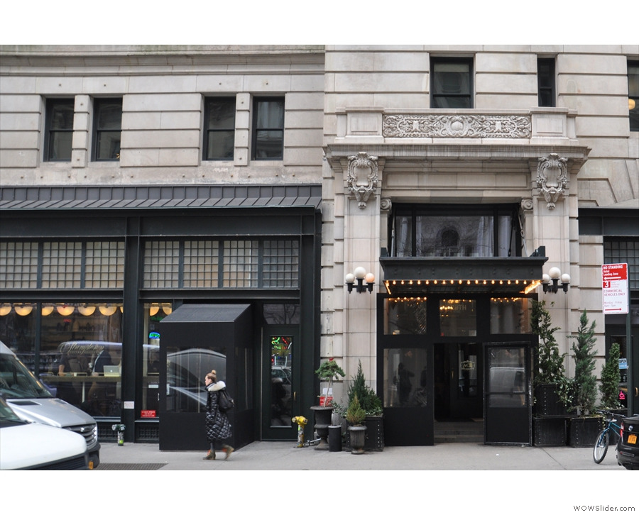 The Ace Hotel, on NYC's W29th St, with Stumptown to the left.