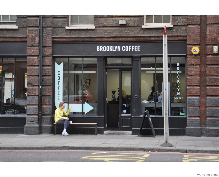 Brooklyn Coffee, on London's busy Commercial Street in Shoreditch.