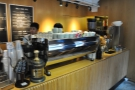 ... the business-end of the counter, where all the coffee is made.