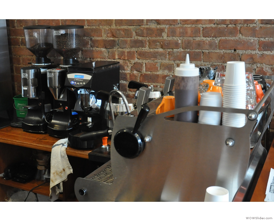 Finally, on the other side of the counter, don't forget the shiny Synesso espresso machine.
