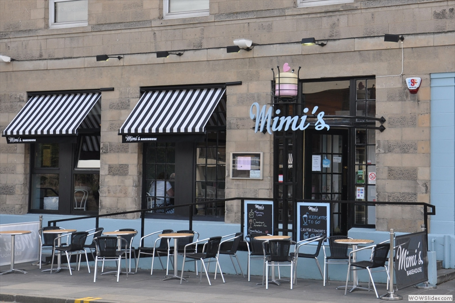 Mimi's Bakehouse in Leith, complete with outside seating