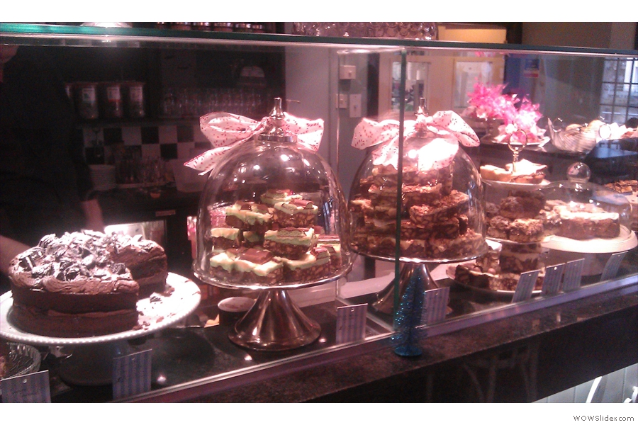 Just some of the extensive choice of afore-mentioned cake