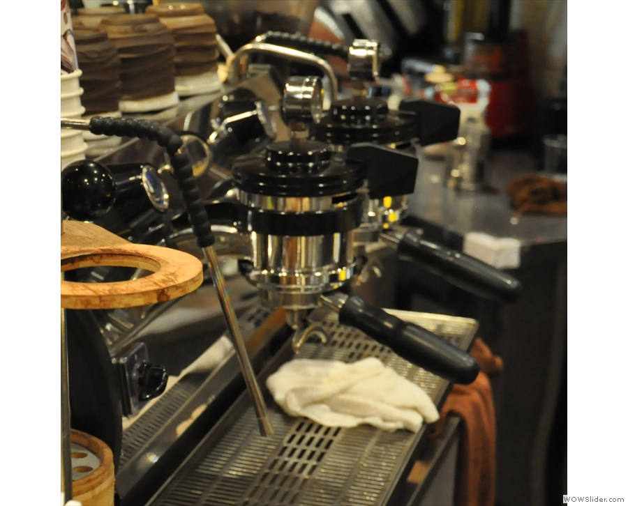 ... from this very modern La Marzocco Strada.
