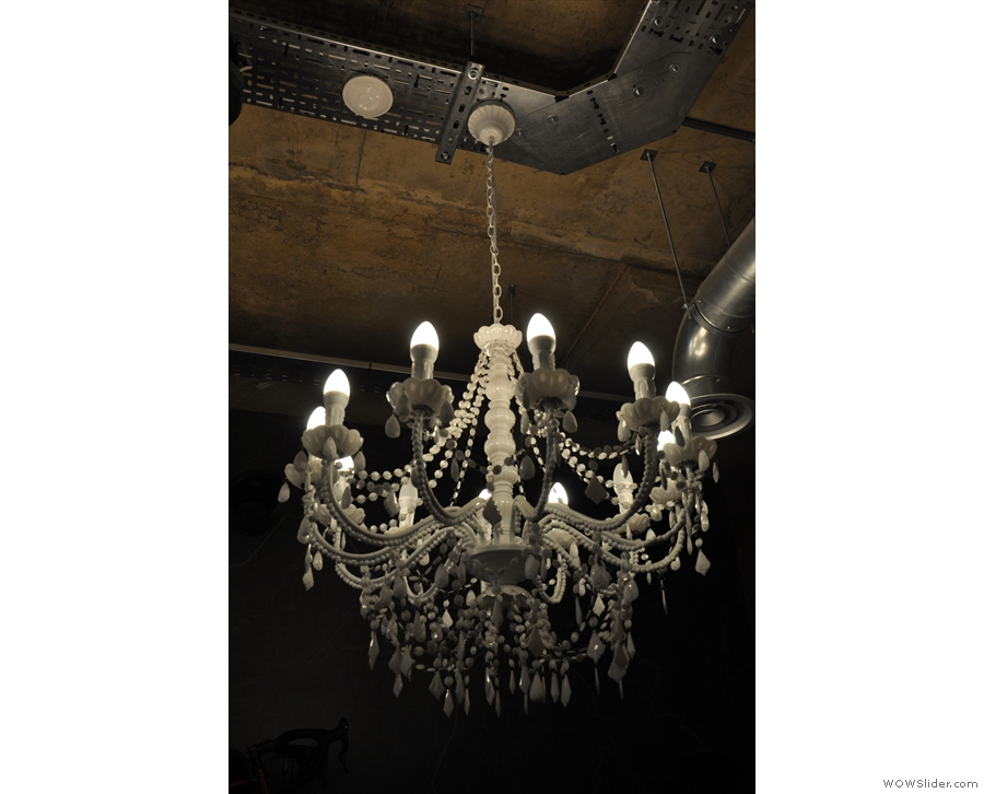 ... and more fancy ones in the shape of this chandelier.