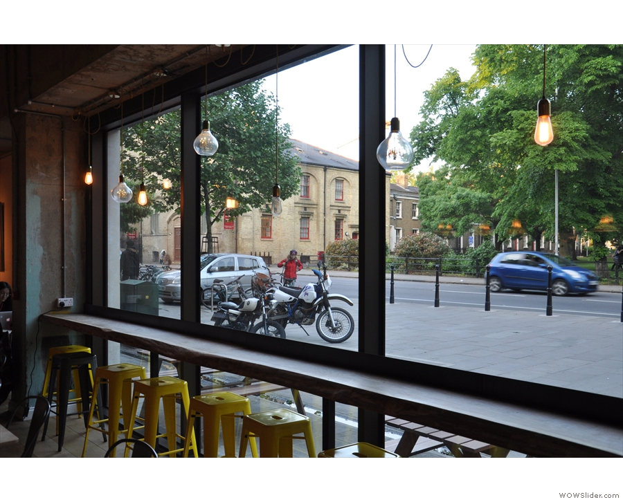 Finally, if you don't fancy chairs, there's always a seat at the window bar.