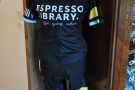Espresso Library cycling team kit? Or someone who didn't pay  & was made an example of?