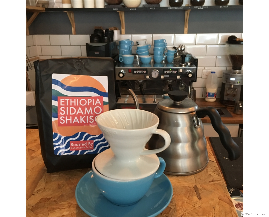 The Urban Larder has started doing pour-overs, offering a single-origin through the V60.