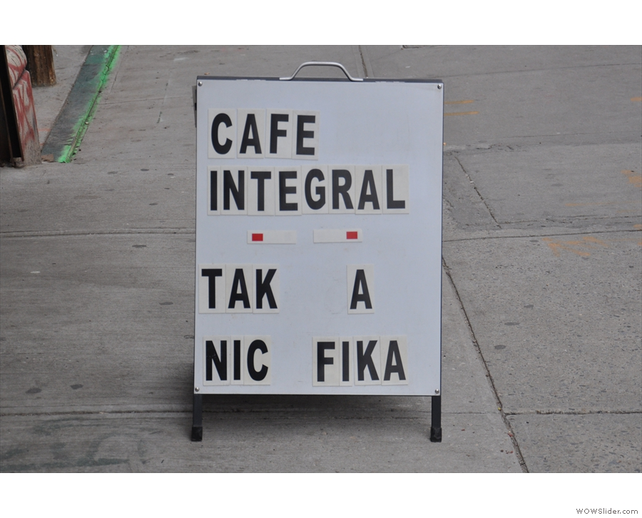 Why, it's Café Integral, which has its home inside American Two Shot.