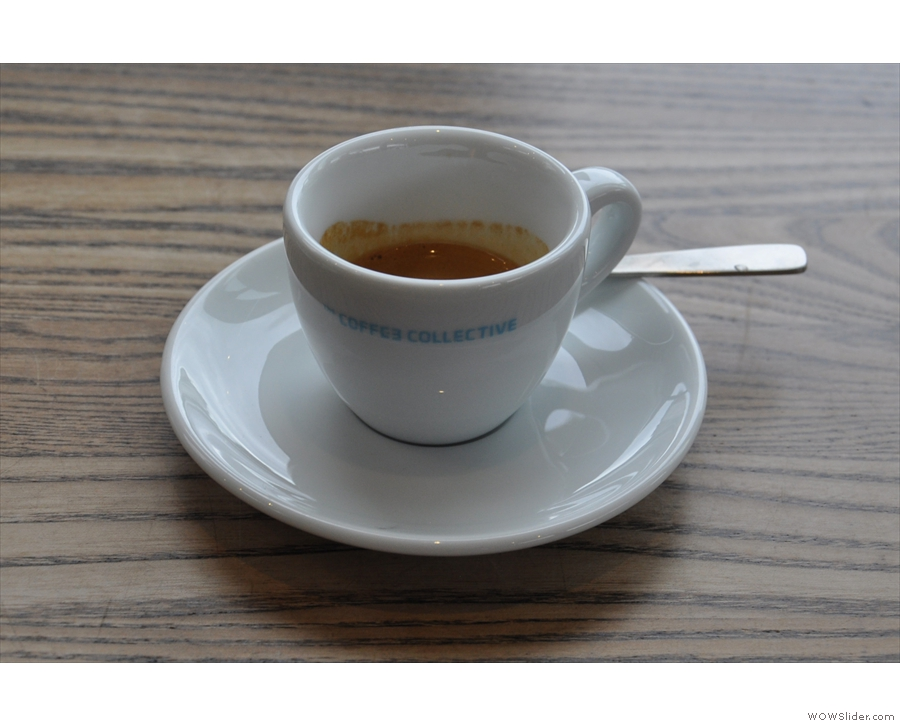 My espresso, on its own...