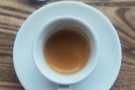 For some reason, I loved the presentation. Here's my espresso...