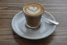 ... and my cortado, in a glass.