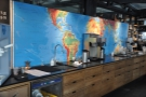 There's more work space at the back, where there's also a map of the tropical regions.