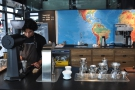At the far end of the counter is the brew-bar, with its Kalita Wave filters.