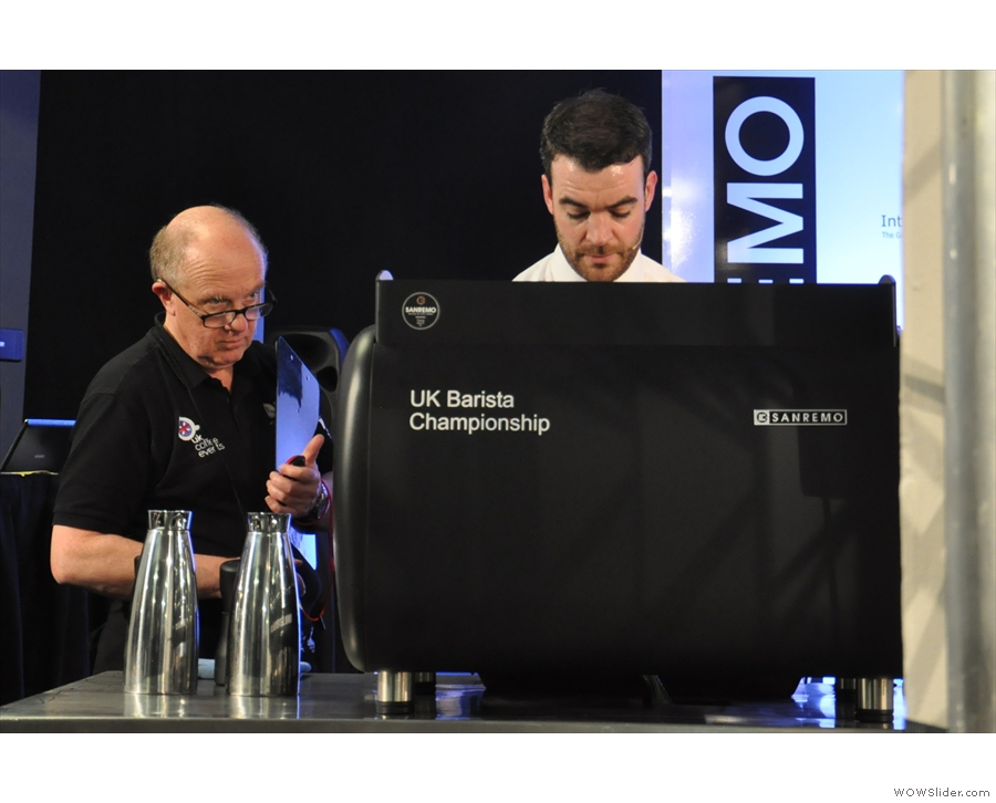 Another is Joe of Flat Caps Coffee in Newcastle, seen here competing in the UKBC in 2014.
