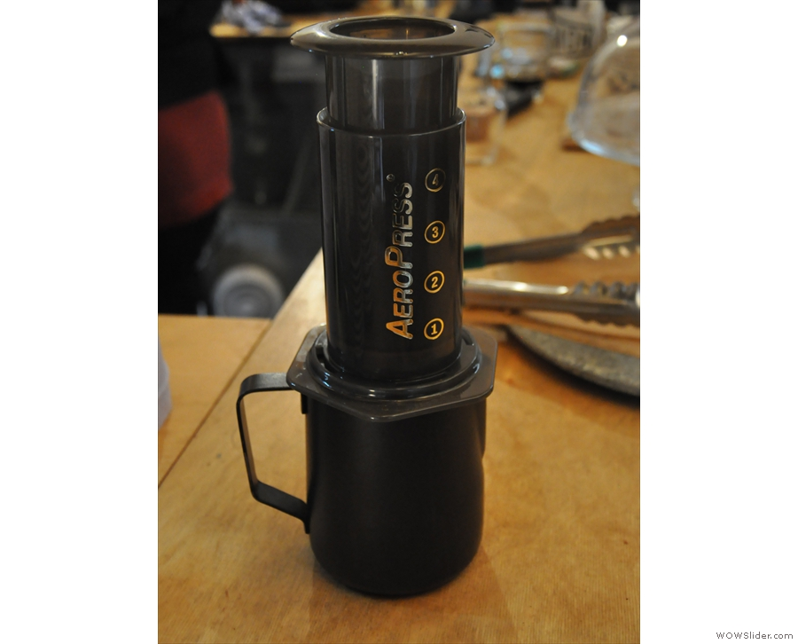 I had the El Potrero, which Idle Hands recommends through the Aeropress.