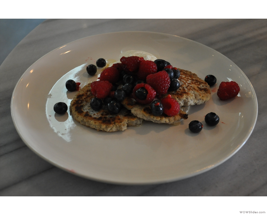 ... while on my return I sampled the chia and coconut flour pancakes