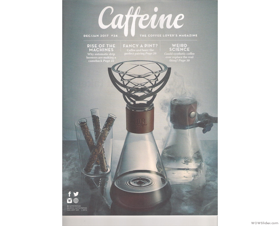 The final Caffeine Magazine of 2016 starts off with another bold cover.