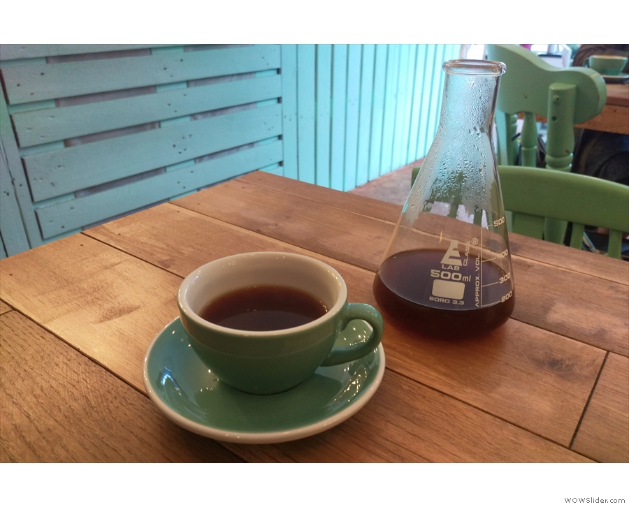 ... which I paired with a syphon of the guest filter, a Nicaraguan from Ancoats Coffee Co.
