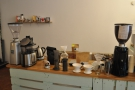 To the left of the espresso machine is the filter area, with lots of pour-over options...