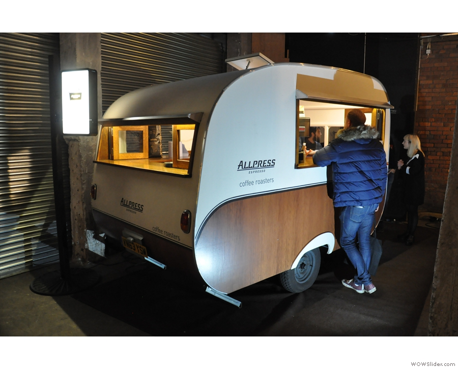 Next up, I went to see my friends at Allpress and their new caravan, Florence.