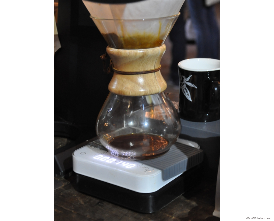 ... which it was making with the Chemex.