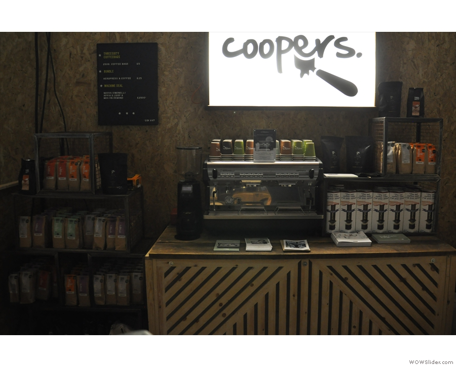Next stop, the Coopers stand to catch up with Glasgow Coffee Girl (Rebecca)...
