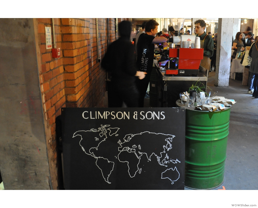 Who's this hiding around the corner? Why it's Climpson & Sons.