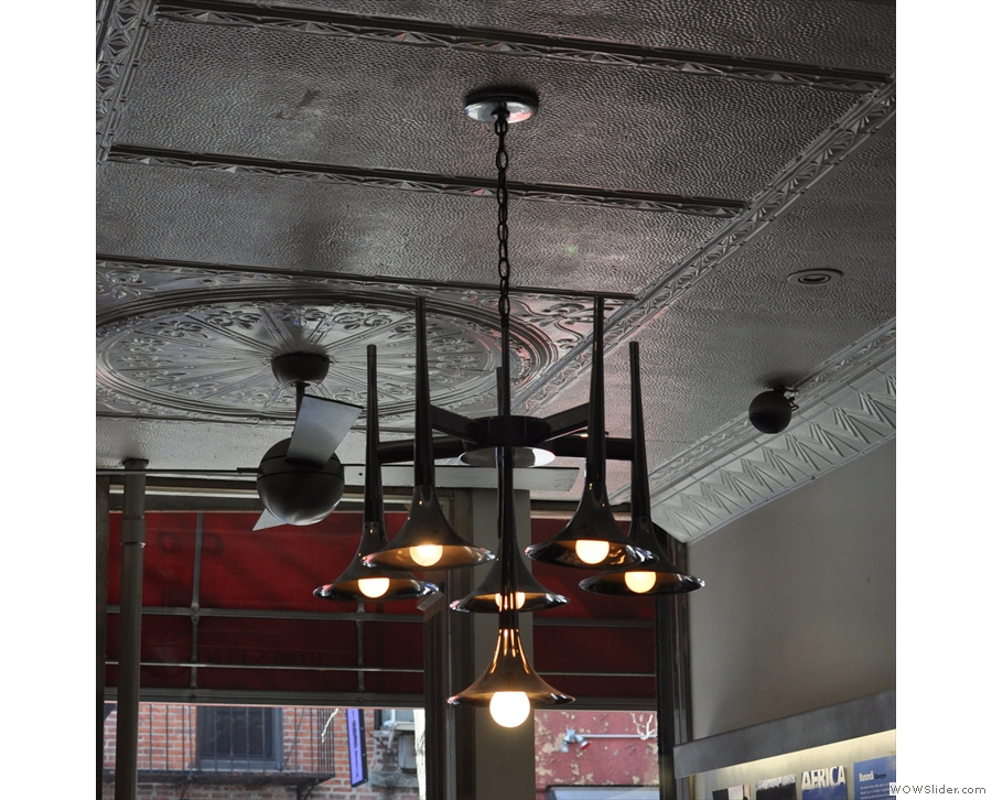 ... while I was particularly taken by the light-fitting and the tin ceiling.