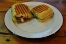 For lunch itself, a very fine toasted pesto, mozzarella and sun-dried tomato panini.
