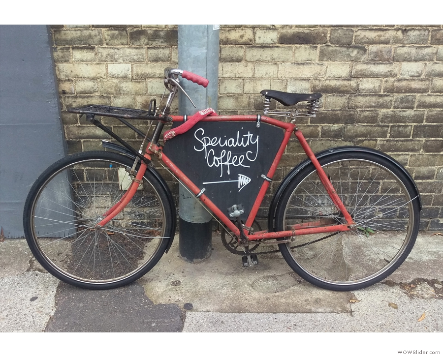 May: speciality coffee this way. Hot Numbers, Gwydir Street, Cambridge.