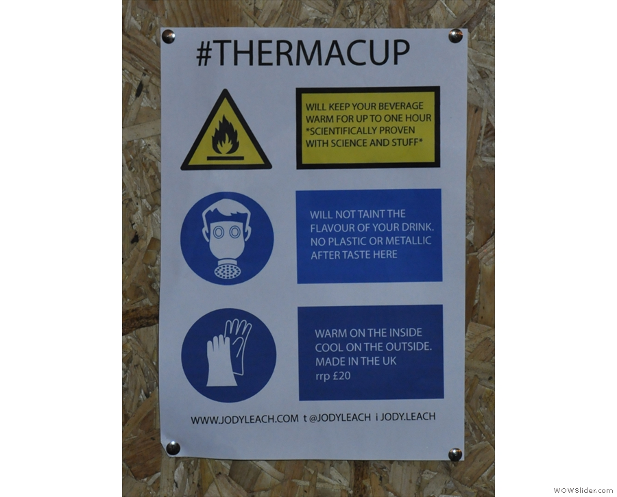 As the name suggests, the Therma Cup keeps its contents warmer for longer.