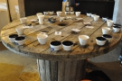 There were eight coffees in all, four from Panama and four from the Philippines.
