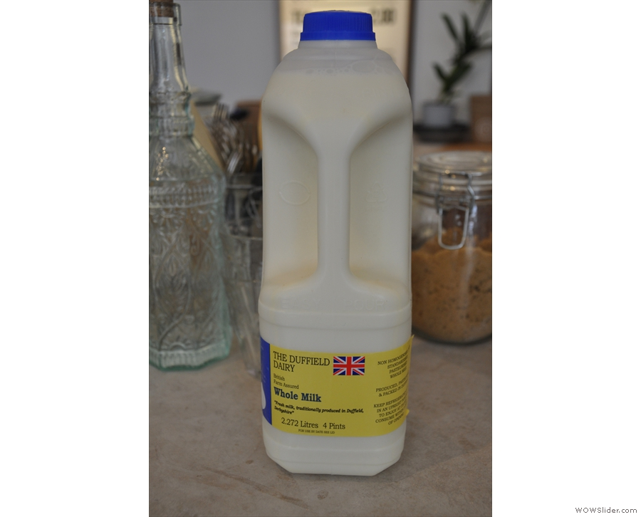 Outpost uses local produce wherever possible, including milk from the nearby Duffield Dairy.