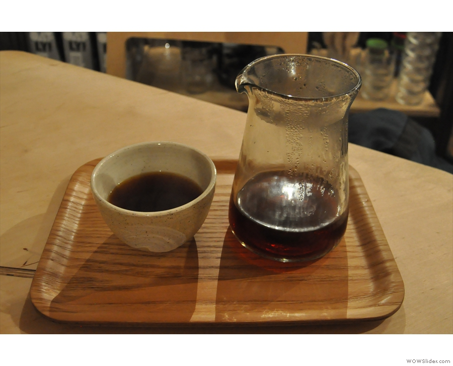... and Aeropress, although my coffee, seen here, was through the V60.