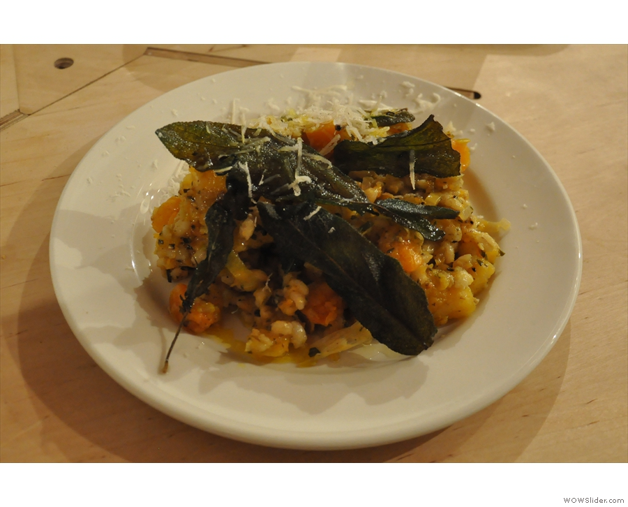 I had to try something and so went for the amazing squash risotto.