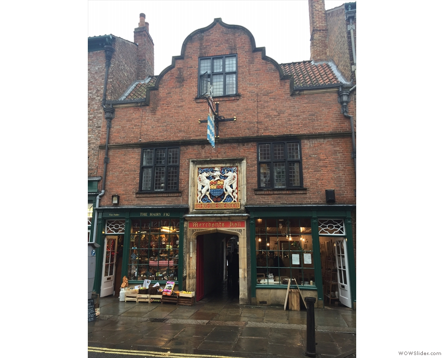 What's this on York's Fossgate? The Merchant Adventures' Hall?