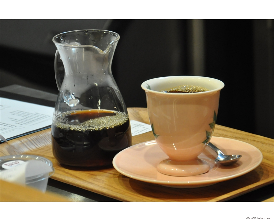 The individual filter coffee was just as beautifully presented, in a carafe on a little tray...